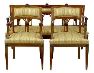 Early 20Th Century 3 Piece Mahogany Salon Suite Sofa And Armchairs
