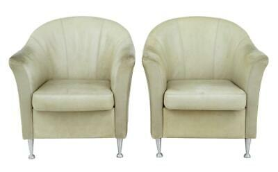 PAIR OF 1960's LEATHER TUB ARMCHAIRS