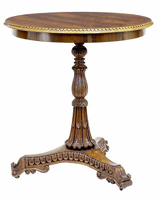 19Th Century Carved Regency Rosewood Occasional Table