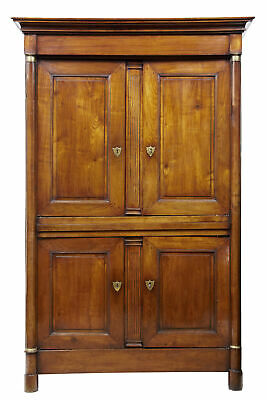 19Th Century French Empire Fruitwood Armoire Cupboard