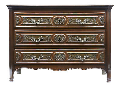 Fine 19Th Century Antique  Walnut And Rosewood French Provincial Commode