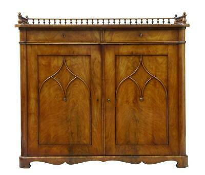 19Th Century Mahogany Gothic Influenced Cupboard Cabinet