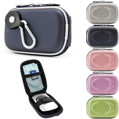 Small Digital Camera Case Pouch Bag W/Clip For Canon Powershot IXUS190/Sony W800
