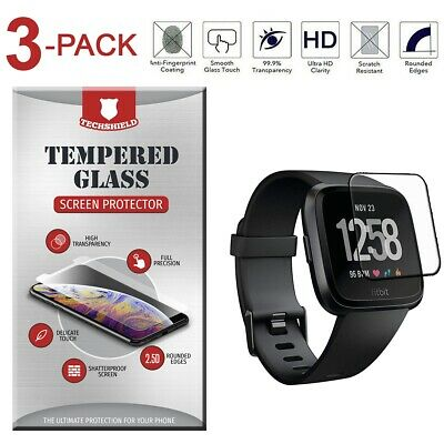 3-Pack Tempered Glass Film Screen Protector For Fitbit Versa