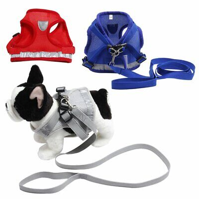 Pet Cat Walking Harness Lead Adjustable Reflective Strap Vest for Small Dog  WS