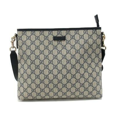 37ae84c96ec0 Authentic GUCCI GG Supreme Shoulder Bag PVCx leather Blue x Beige Used  388924