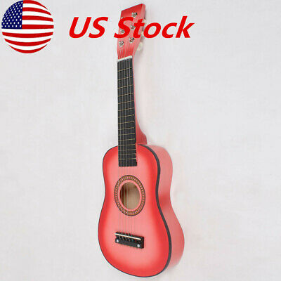 "Acoustic Classic Guitar 23""For Beginners Student / Adults 6 Strings Pink US"