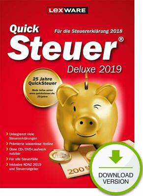 Lexware QuickSteuer Deluxe 2019 (für das Steuerjahr 2018), Download, Windows