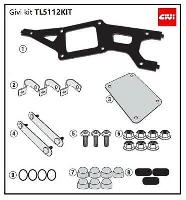 Kit Attacco Per Givi S250 Tool Box Su Portavaligie Laterale Originale Bmw Gs Adv