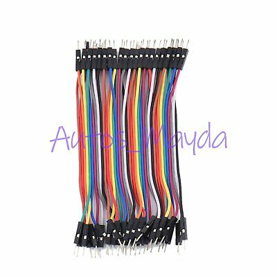 40pc 10cm Dupont Male To Male Jumper Wire Ribbon Cable for Breadboard Arduino