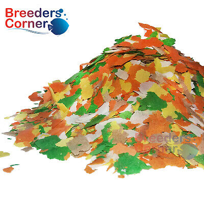 BREEDERS CORNER Premium Multi Colour Flake Food For Tropical Fish