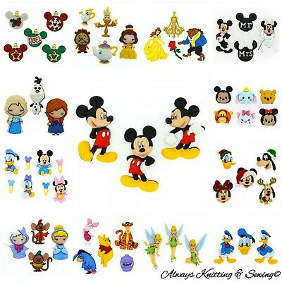Disney Dress it up buttons sold per packet Mickey, Minnie, Winnie the pooh .....