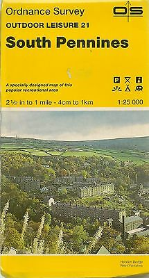 Ordnance Survey Outdoor Leisure Map 21 SOUTH PENNINES- 1984