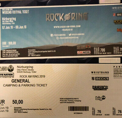 ROCK am RING 2019 Weekend Festival Ticket inkl. Camping Ticket
