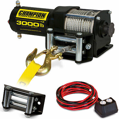 Champion ATV/UTV 3000-lb. Winch Kit w/ Mounting Channel, Roller Fairlead, Remote