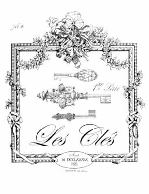 Vintage Image French Keys Les Clés Furniture Transfers Waterslide Decal MIS666