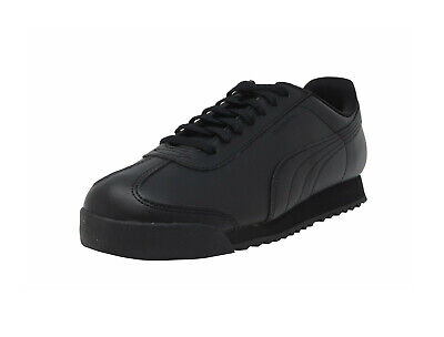 Puma Roma Basic Black Black Shoes Big Kids Youths Children Casual Synthetic