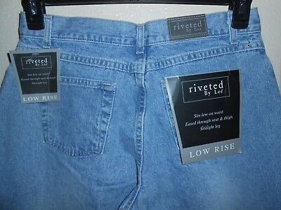 Riveted By Lee Low Rise Jeans Womens Size 8 M NEW FREE SHIPPING!