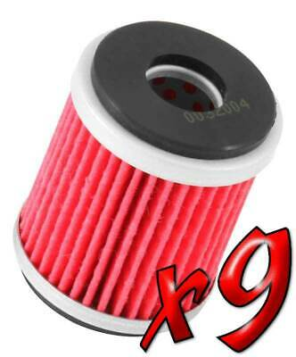 9 Pack: Oil Filters Pro Powersports Cartridge KN. - For MBK, Yamaha Scooter