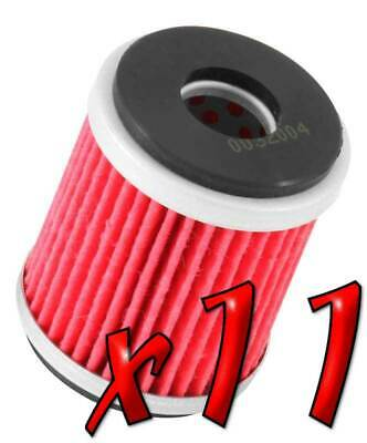 11 Pack: Oil Filters Pro Powersports Cartridge KN. - For MBK, Yamaha Scooter