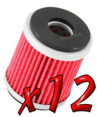12 Pack: Oil Filters Pro Powersports Cartridge KN. - For MBK, Yamaha Scooter