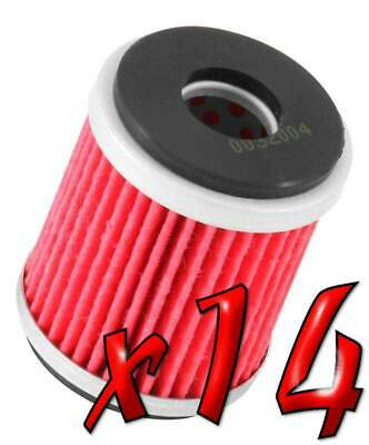 14 Pack: Oil Filters Pro Powersports Cartridge KN. - For MBK, Yamaha Scooter