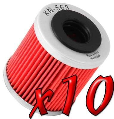 10 Pack: Oil Filters Pro Powersports Cartridge KN. - For Derbi, Piaggio Scooter