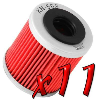 11 Pack: Oil Filters Pro Powersports Cartridge KN. - For Derbi, Piaggio Scooter
