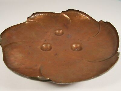 """Vintage VERMONT COPPER CRAFTERS Hand Hammered 10"""" Bowl VCC #501"""
