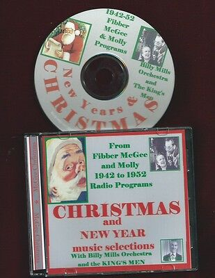 FIBBER McGEE & MOLLY Christmas & New Year music KING'S MEN CD OTR RADIO SHOWS