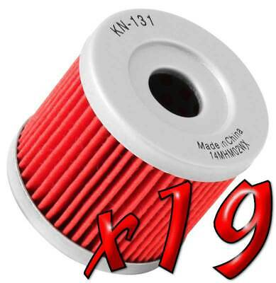 19 Pack: Oil Filters Pro Powersports Cartridge KN. - For Hyosung, Suzuki MC