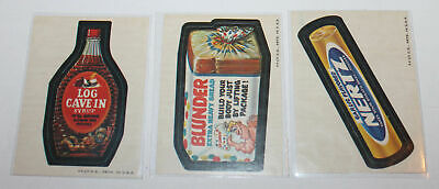 1973 Original Topps Wacky Packages 2nd Series 3x Cards Log Cave In & Blunder etc