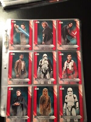 2017 TOPPS STAR WARS LAST JEDI COMPLETE SET 111 CARDS 100 BASE PLUS ILLUSTRATED Niet-sportkaarten Verzamelingen