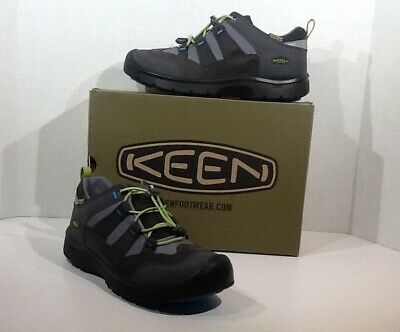 1a522bbaa3f KEEN Hikeport Mid WP Boys Youth Size 5 Magnet Greenery Hiking Boots Shoes  YB-212