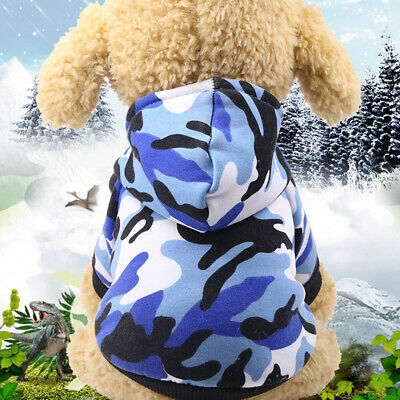 Small Dog Hoodies Costume Coat Costumes Outfit Warm Jacket Camouflage Apparel