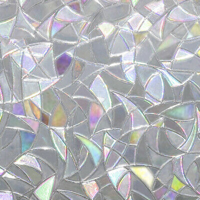 Stained Glass Panel Window Film Sticker 3D Static Decor Ornament 45*100CM