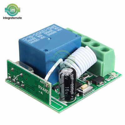 DC12V 433MHZ 10A 1CH Relay Wireless RF Remote Control Switch Receiver Module