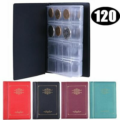 120 Pockets Coin Penny Money Album Storage Book  Folder Holder Display Collect