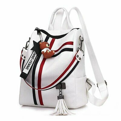 Women Fashion New Leather Backpack Rucksack Handbag Crossbody Shoulder Bag