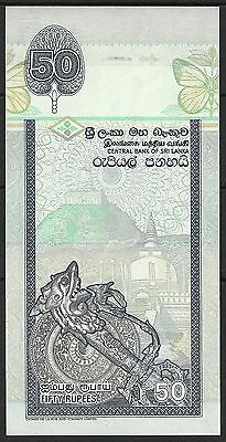 Sri Lanka Papillons Butterflies Art Jewels Schmetterling 50 Rupees 2006 Neuf