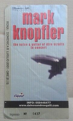 Biglietto Concerto MARK KNOPFLER The Voice e Guitar of Dire Straits ROMA 2001