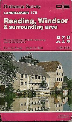 Ordnance Survey Landranger Map No 175 READING, WINDSOR - 1990