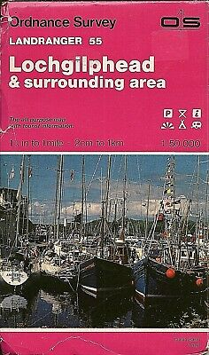 Ordnance Survey Landranger Map No 55 LOCHGILPHEAD - 1987