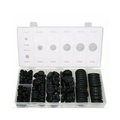 170x Rubber Grommet Firewall Hole Plug Set Electrical Wire Gasket Assortment Kit