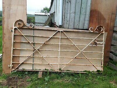 Vintage Metal, Estate Field / Drive Gate, Antique Railing Gate, Wrought Iron