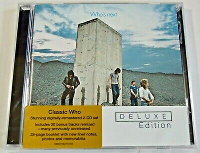 The Who - Who's Next - NEW 2x CD Deluxe Edition -Remastered with 20 Bonus Tracks