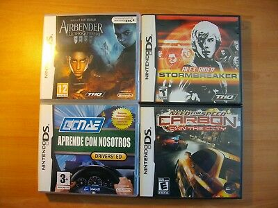 Lot 4 Pack Airbender, Stormbreaker, Drivers, Need For Speed - Nintendo Ds