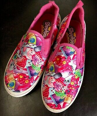 Shopkins Girls Casual Shoes Size 3 Color Pink Kids Cartoon Slippers Novelty