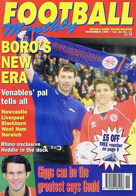 MIDDLESBOROUGH / GIGGS / NEWCASTLE / LIVERPOOL	Football Monthly	Nov	1995