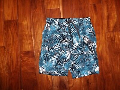 64bc1dfaf4 NWT Mens ZeroXposur Turquoise Stretch Swim Shorts Trunks Swimsuit UV S Small